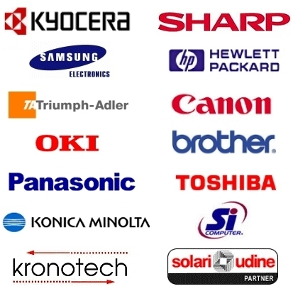 Sharp Kyocera Samsung HP Canon Oki Brother Krootech Solari